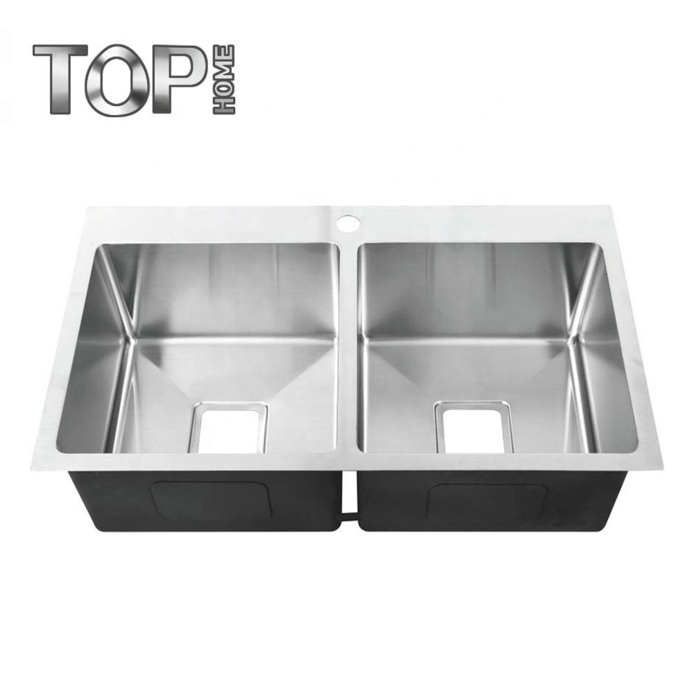 [Hot Item] Custom Made Stainless Steel Sink Double Bowl Sink