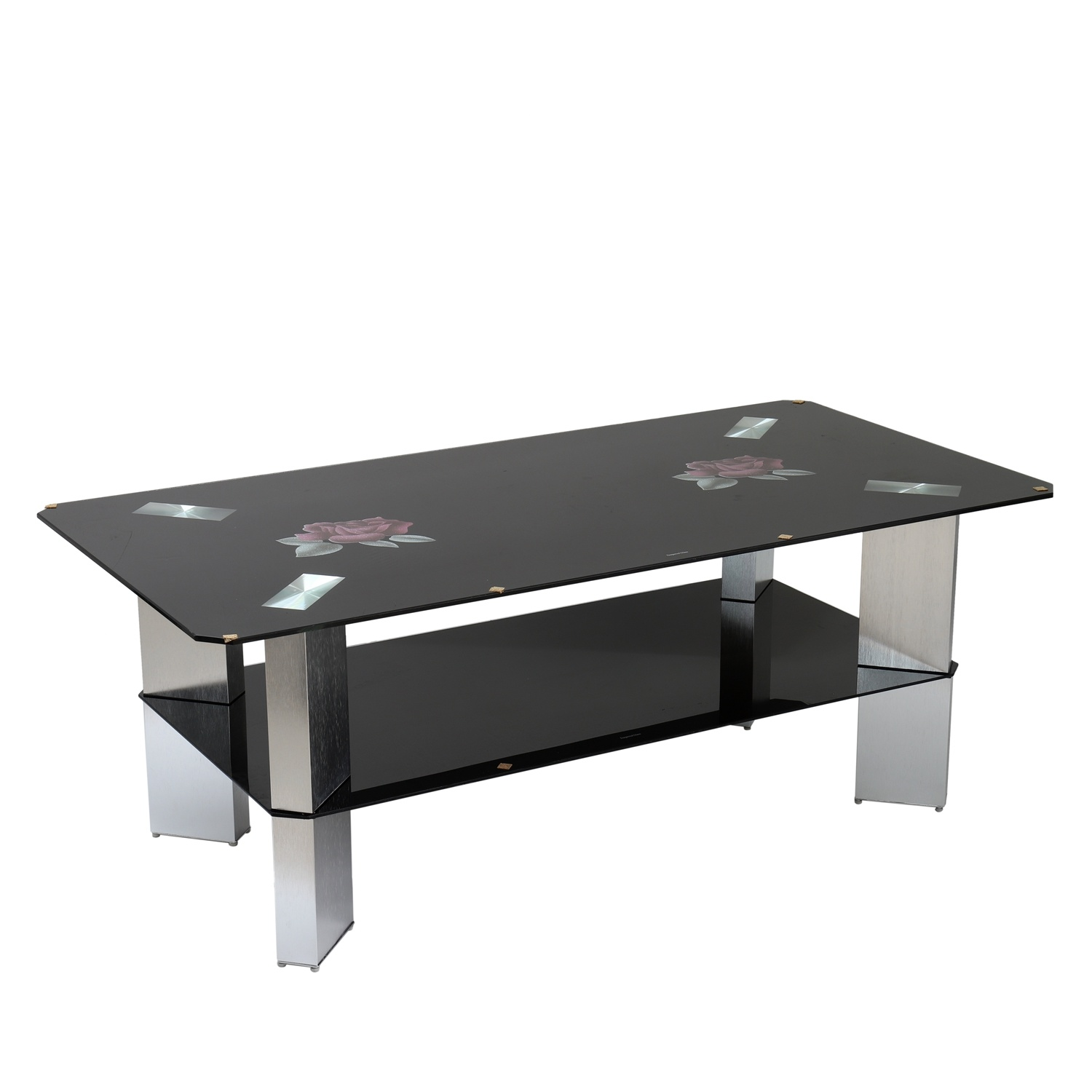 China Tempered Glass Coffee Table Aluminum Leg New Design ...