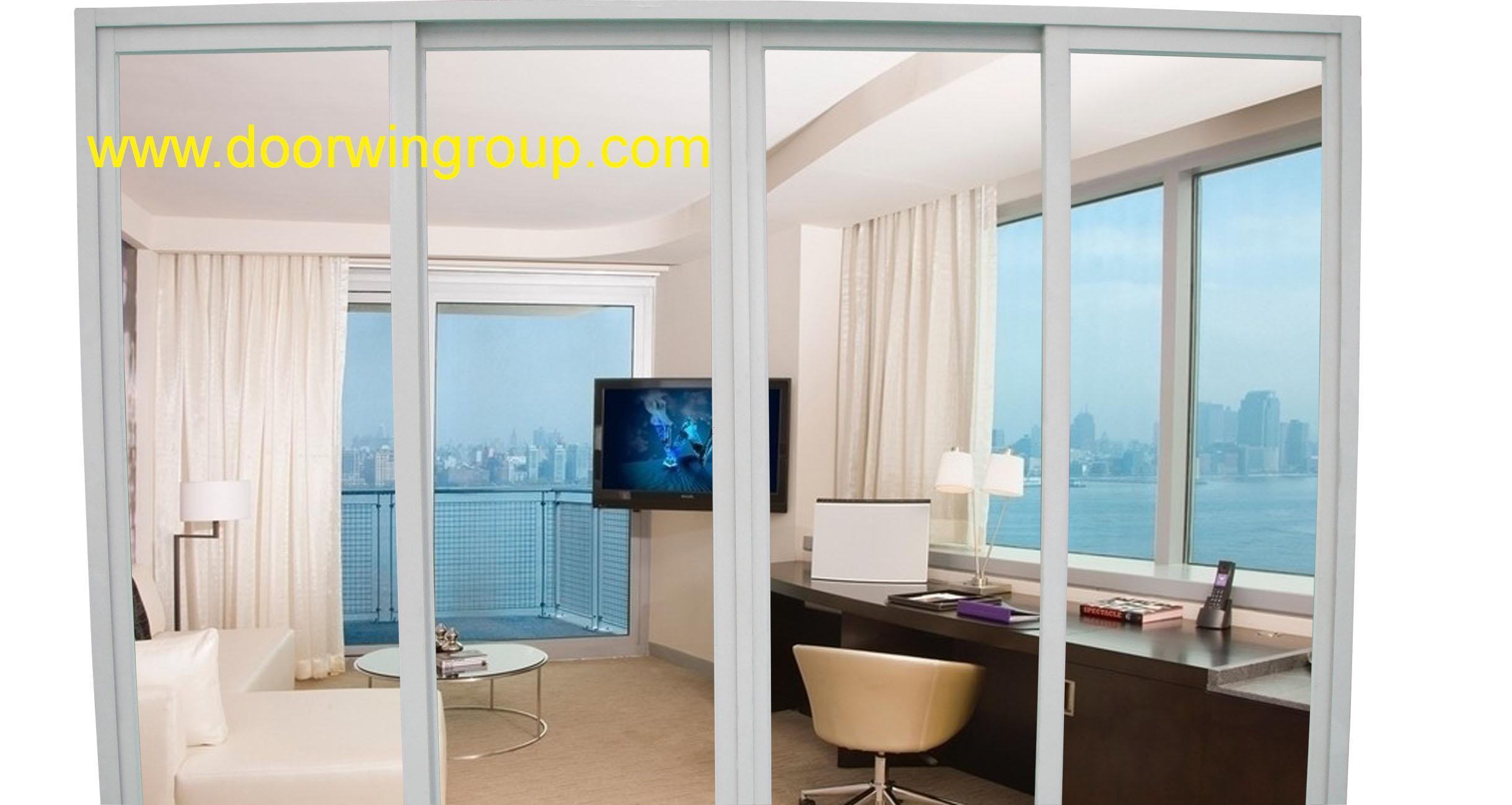 China Single Glass Aluminium Sliding Door For Terrace And