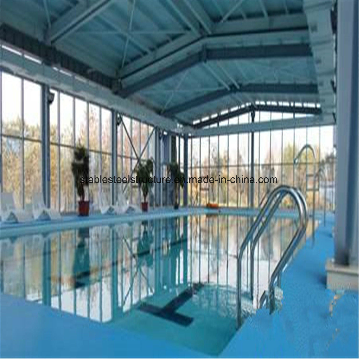 China Best Design Steel Structure Indoor Swimming Pool Building for ...