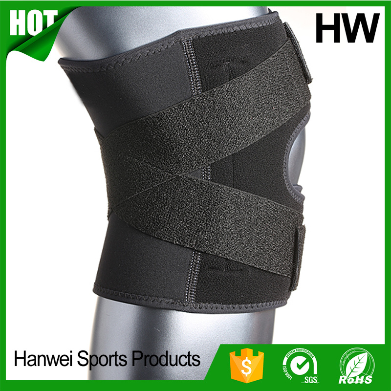 Whosale Adjustable Closed Patella Neoprene Knee Brace (HW-KS030)