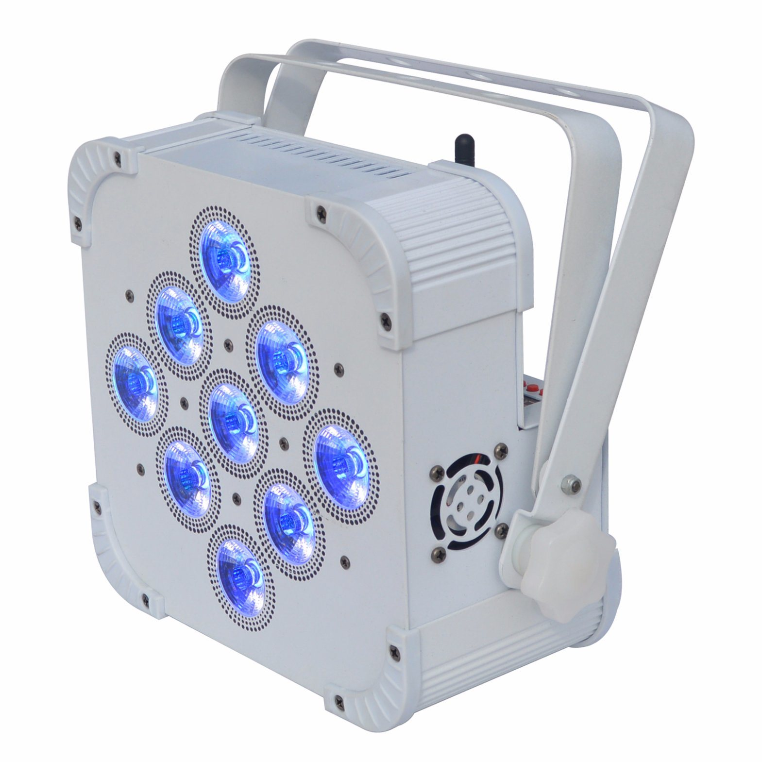 Wireless DMX LED Flat PAR Light 9 X 15W RGBWA 5in1 Color Mixing Non Waterproof IP20 No Battery pictures & photos