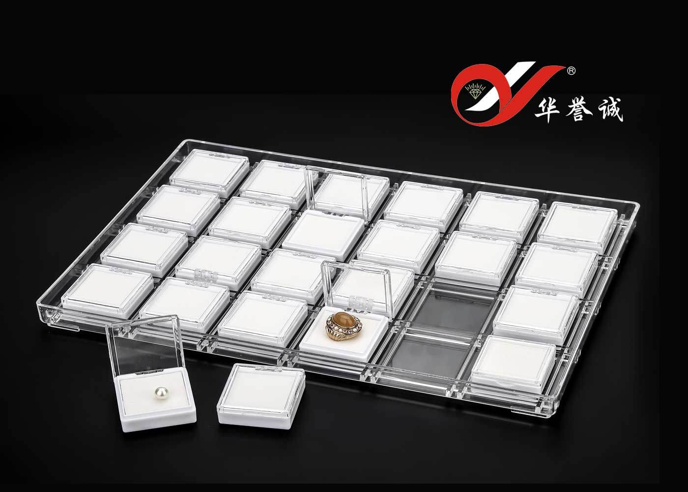 24 Removeable Components Jewelry Plastic Display