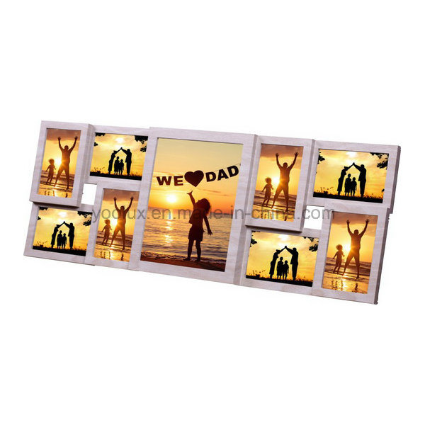 China Walmart Plastic Multi Openning Home Decorative Picture Collage