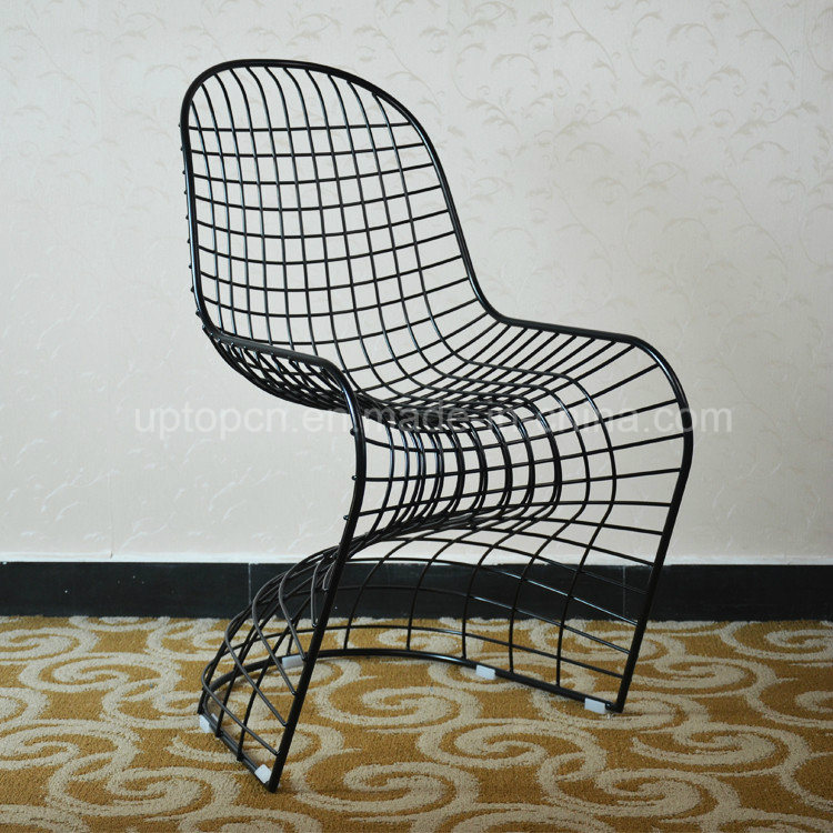 china modern s shape replica verner panton wire chair sp mc009
