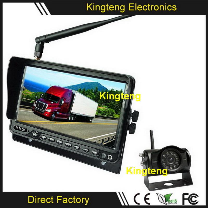 [Hot Item] 12V~32V 2 4G Digital Wireless Parking Sensor Safety Camera Kit  Caravan Horse Trailer Wireless Backup Rear View Camera System