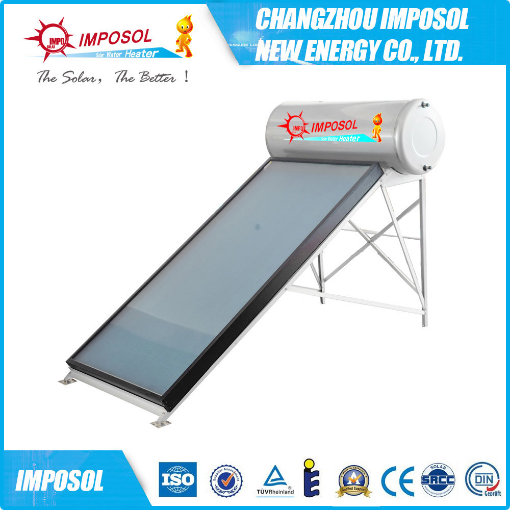 China Copper Coil Pressurized Solar Water Heating System Photos ...