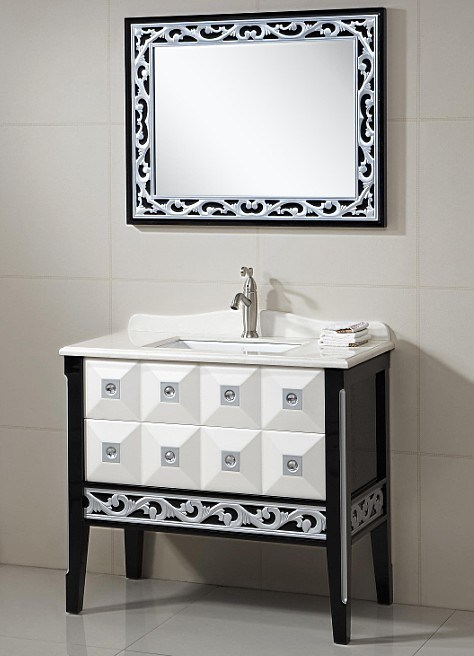 Mordernfloor Stand Bathroom Furniture With Mirror Basin Cabinet High Quality 330