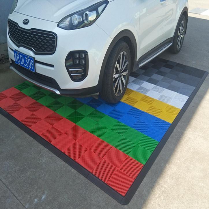 China Plastic Outdoor Interlocking Free Flow Garage Floor Tiles