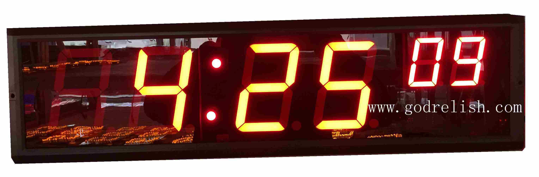 China New Design Led Countdown Timer Digital Wall Clock 4 Hh Mm