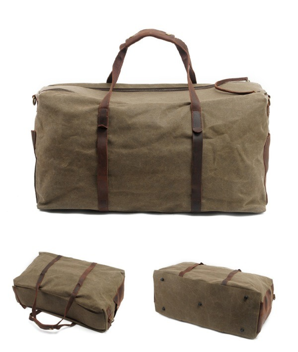 86161462d China Retro Vintage Waxed Canvas Handbag Duffel Travel Duffle Bag  (RS-2179B) - China Waterproof Bag, Outdoor Duffel Bag