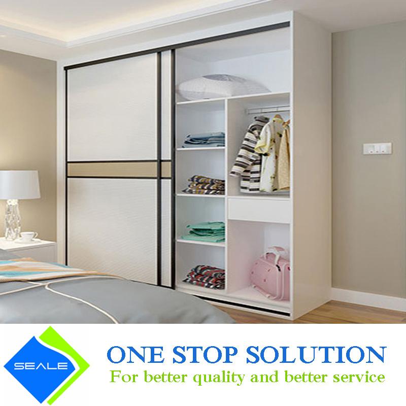 [Hot Item] White and Golden Color Bedroom Furniture Wardrobes Closet (ZY  2023)