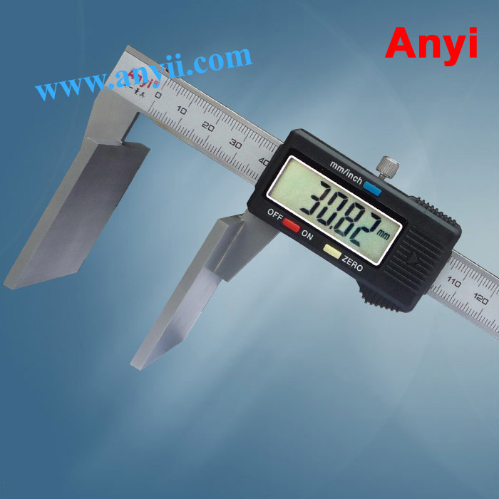 China Broad Face Wire Rope Caliper Wide Jaw Vernier Caliper - China ...
