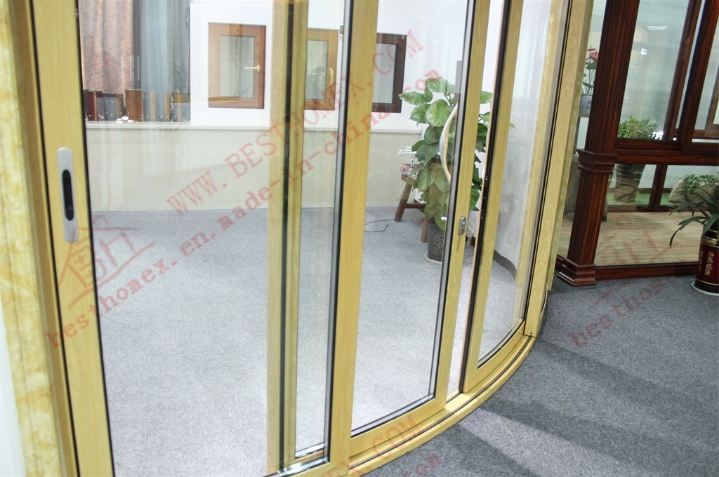 High Standard Aluminium Curved Sliding Window and Door (BHA-SWA02) pictures & photos