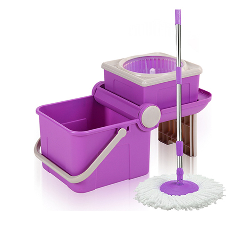 Fold Design Spin Mop with No Foot Pedal