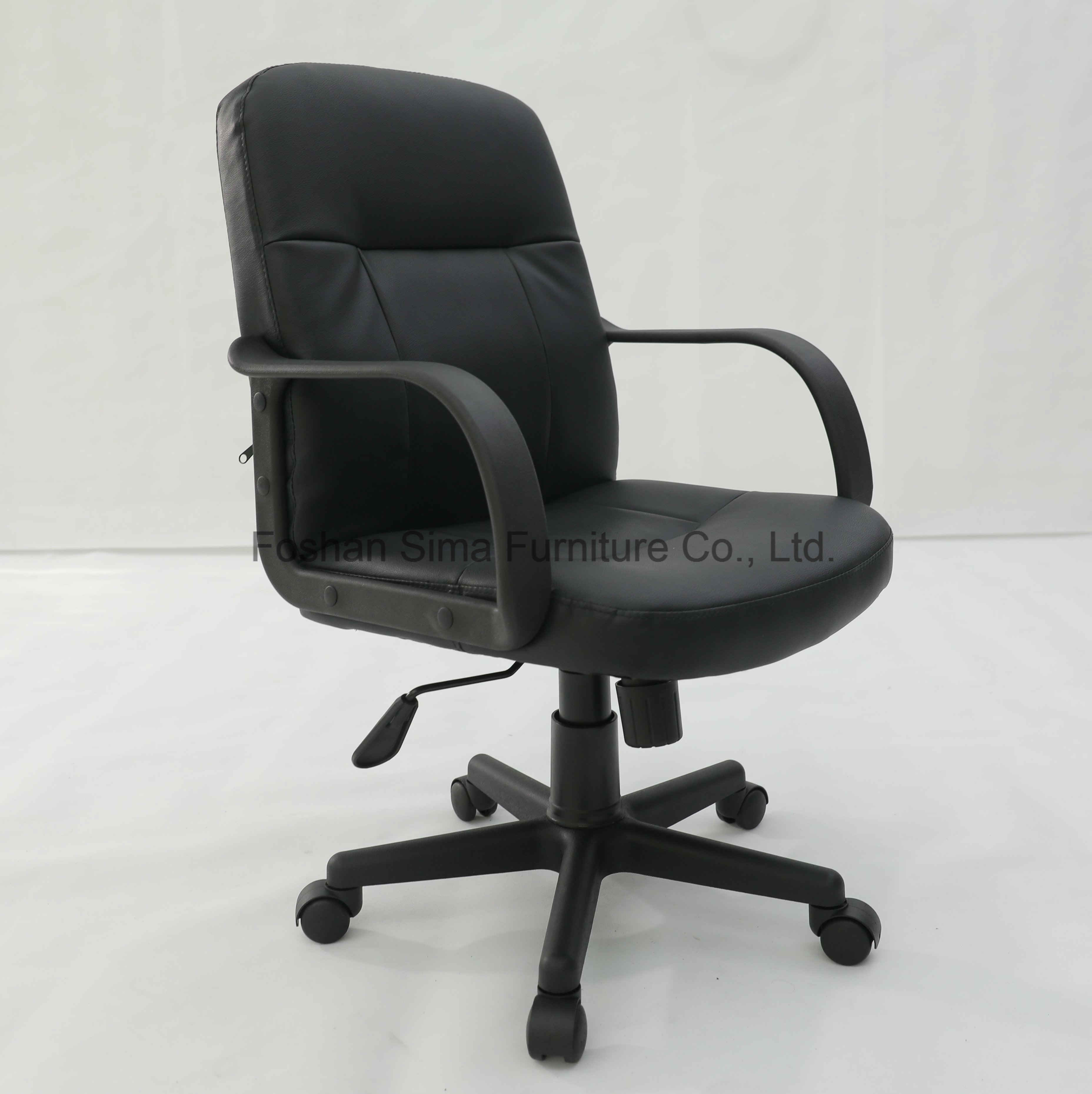 China Best Comfortable Cute Pu Cheap Black Reclining Small Faux Vinyle Back Leather Workstation Computer Staff Working Swivel Task Office Desk Chair China Home Furniture Office Furniture