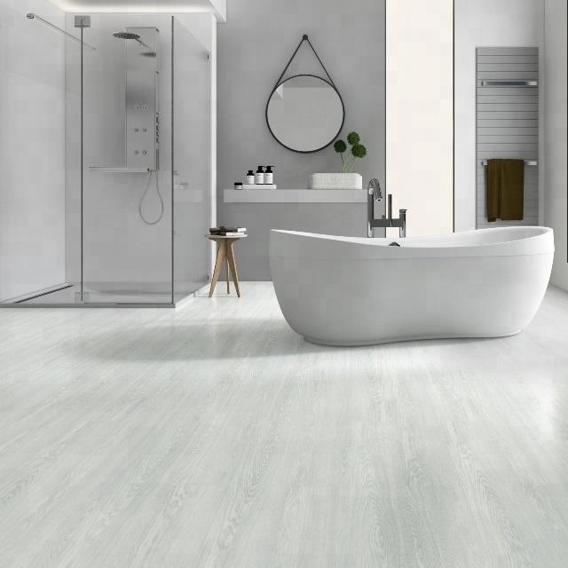 China Noiseless Spc Vinyl Bathroom, Waterproof Bathroom Flooring