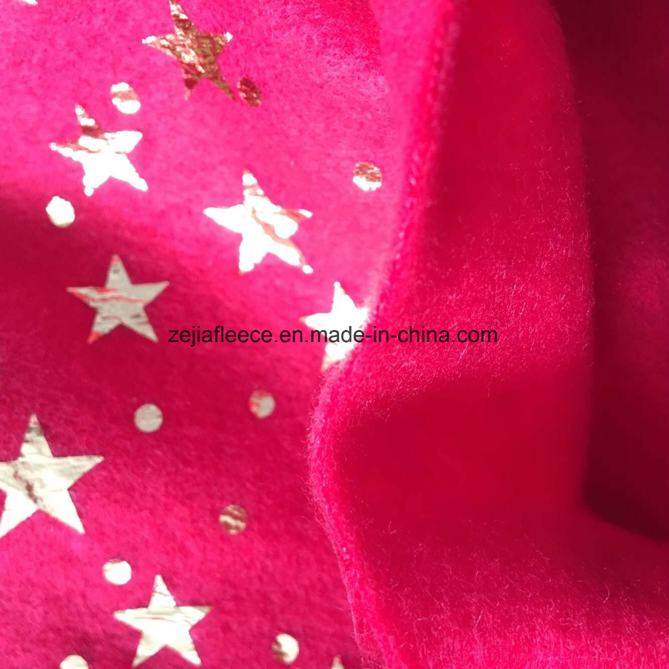 Silver Hot Stamping Fleece Fabric Christmas Decoration