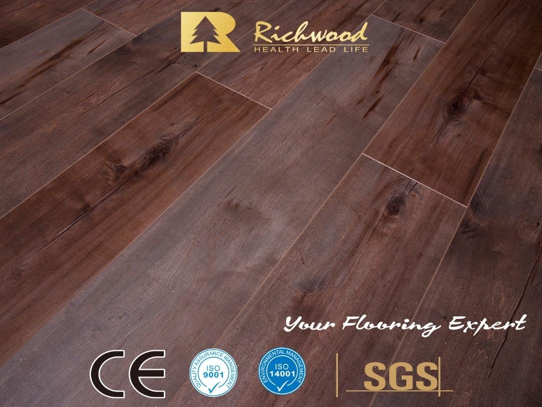 China 12mm Eir Handsed Ac3 E0 Laminate Flooring Laminated