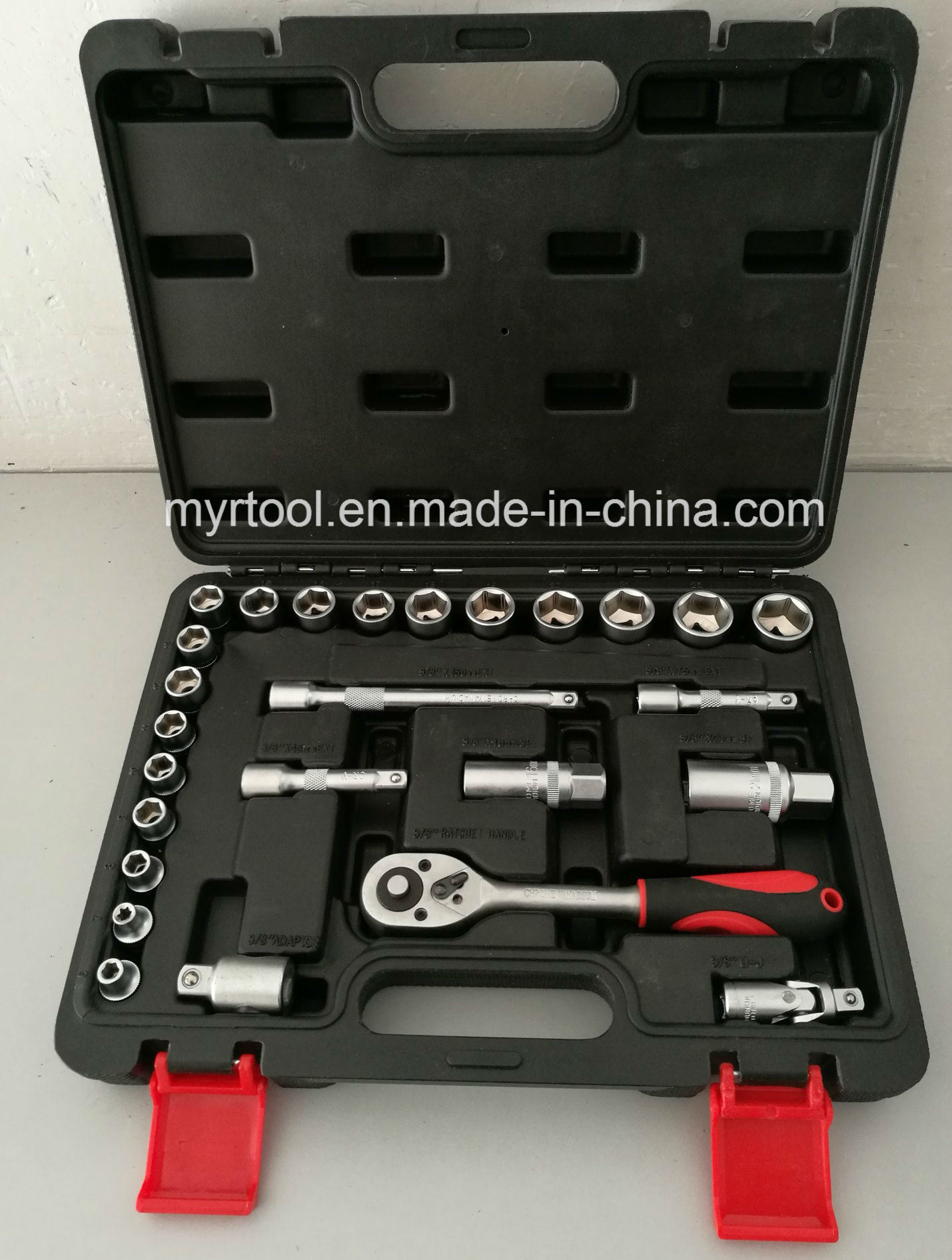 "26PCS -3/8""Dr Professional Socket Tool Set (FY1426B1) pictures & photos"