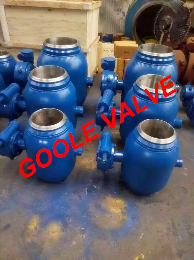 150LB/300LB/600LB/900LB Gear Operated Reduced Bore Fully Welded Ball Valve (GARQ361PPL) pictures & photos