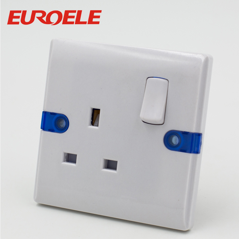China UK White Color ABS 13A/250V 86*86mm Electric Wall Switch ...