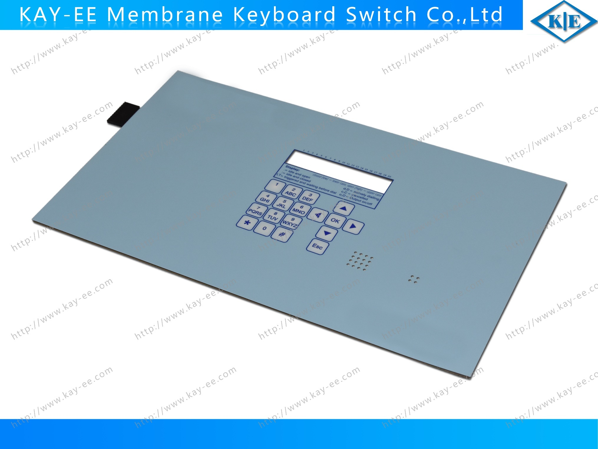Customized LED Membrane Switch Keyboard with Spatron Domes pictures & photos
