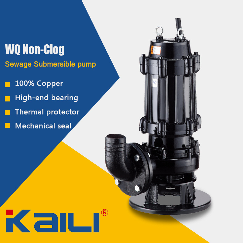 4′ WQK Cutting Sewage Submersible Pump
