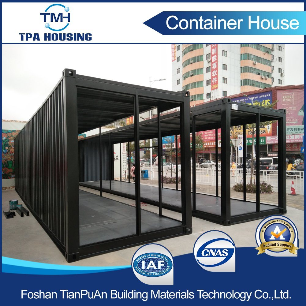 40FT Metal Sheet Fabrication Container House for Small Display Shops pictures & photos