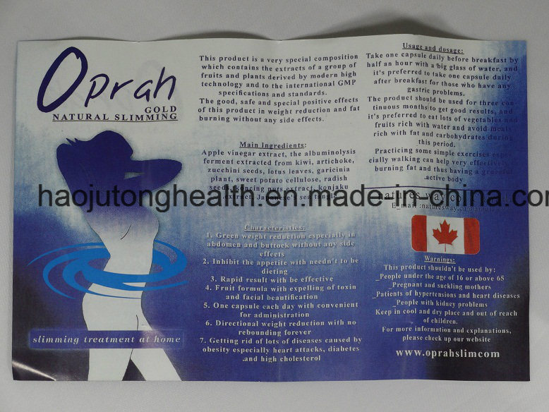 Hot Selling Oprah Gold Natural Slimming Weight Loss Diet Pills