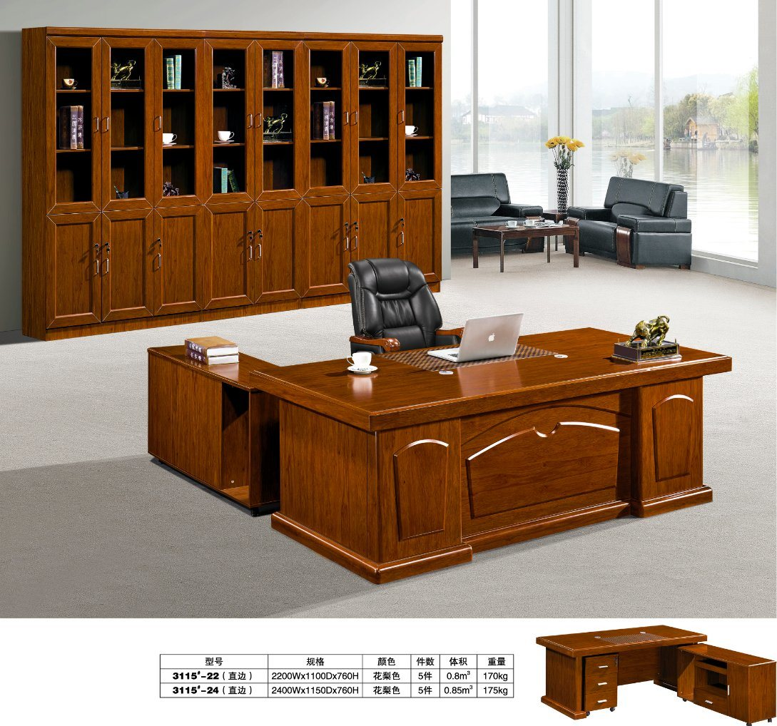Hot Item Clic High Quality Secretary Staff Clerk Writing Study Table Office Furniture Desk Modern Computer Photos Fec3115