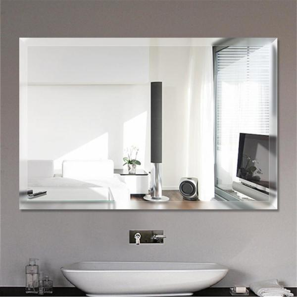 China 4mm Rectangle 14 X18 Double Coated Aluminum Mirror Silver Mirror Bathroom Deocrative Frameless Mirror With 12mm Bevel Edge China Mirror Home Decoration