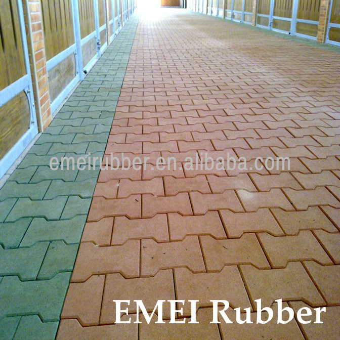 China Dogbone Rubber Tile/ Pathway Flooring/ Garden