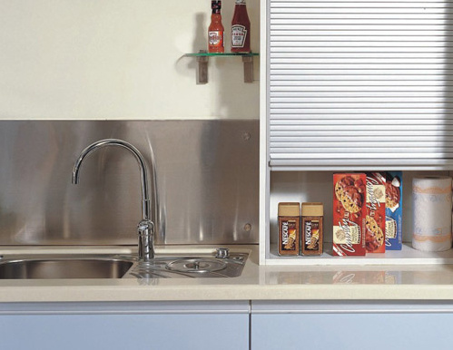 China Aluminum Kitchen Cabinet Rolling Shutter Door Snk