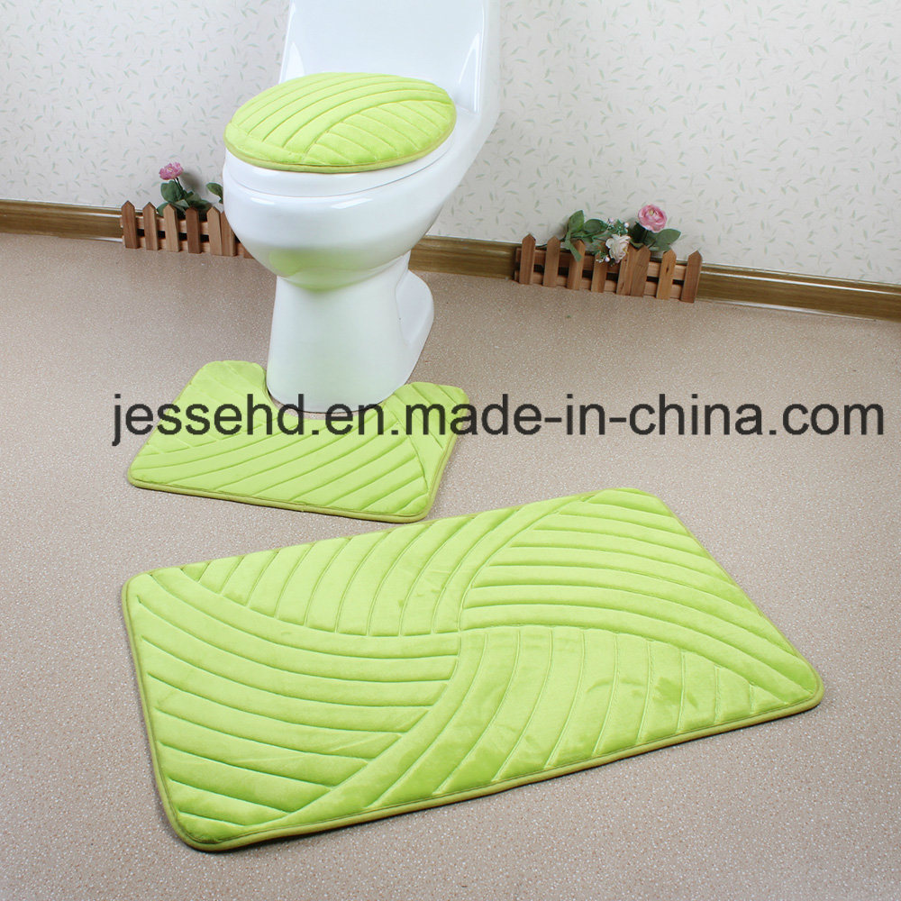 Washable and Comfortable 3PCS Flannel Bathroom Floor Rug Set