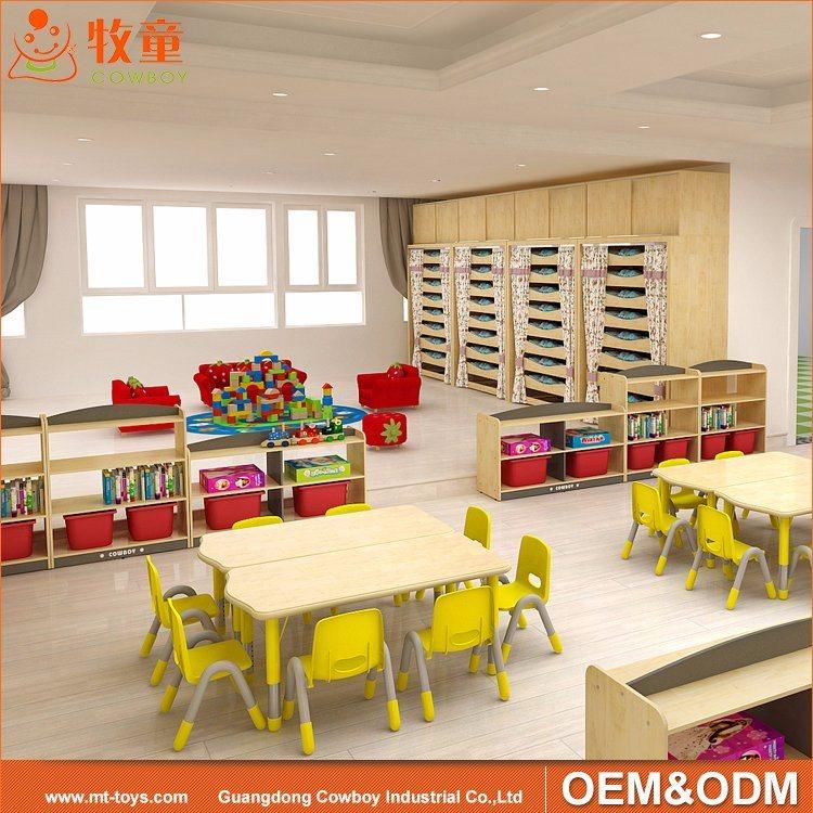 China Nursery Kindergarten Kids Plywood Furniture Set For Preschool Classroom