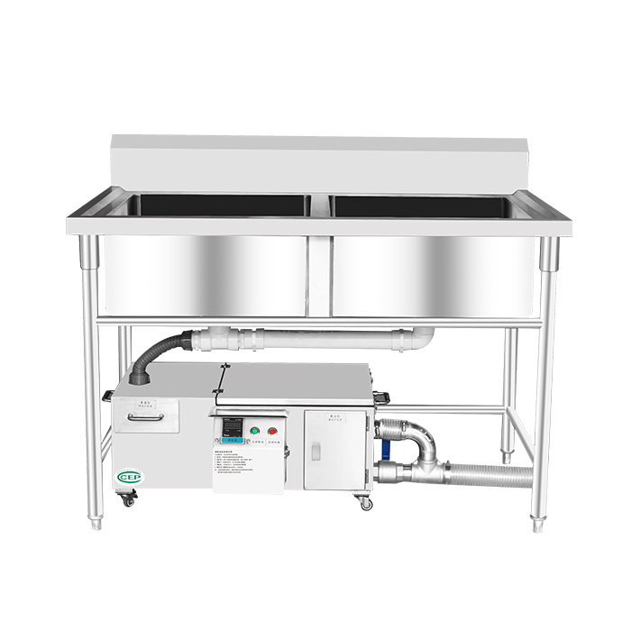 Sus 304 Stainless Steel Electric Type Automatic Kitchen Under Sink Waste Cooking Grease Trap Oil Water Separator China Grease Trap Oil Water Separator Made In China Com