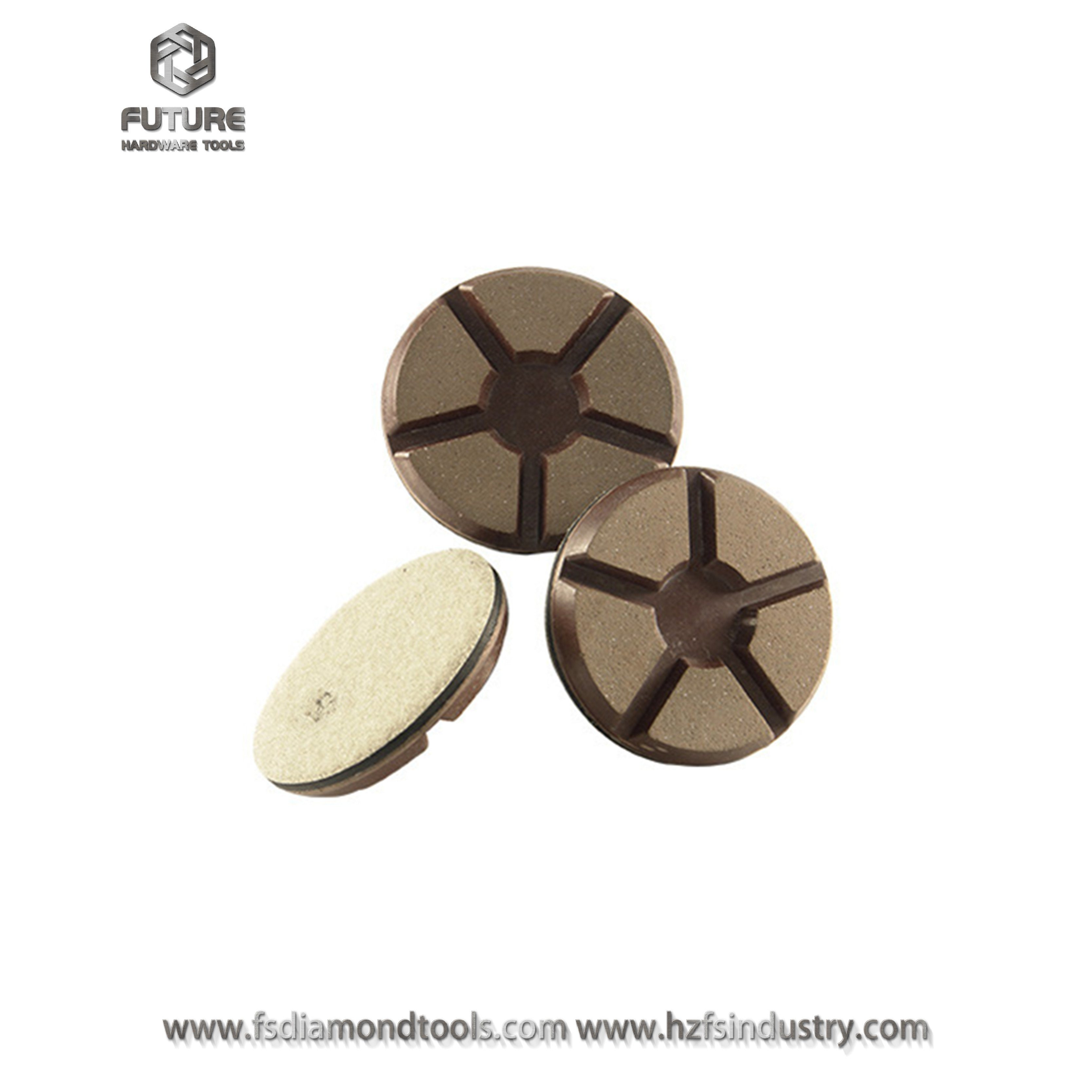 "3"" Copper Bond Hybrid Transitional Diamond Polishing Pad for Concrete"