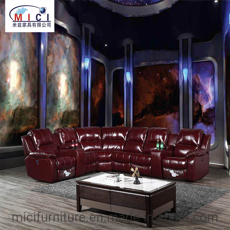 Furniture Corner Leather Recliner Sofa