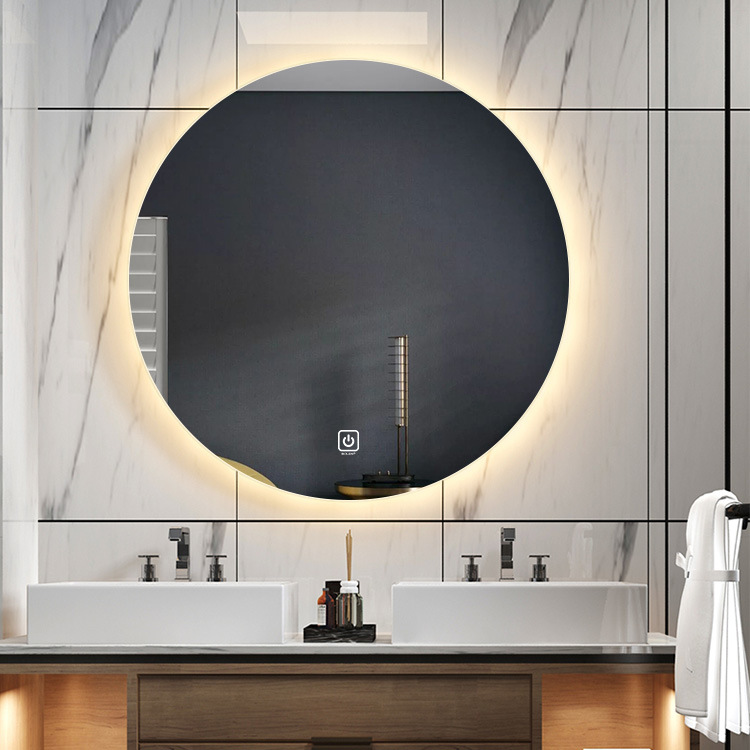China Round Bathroom Mirror Led