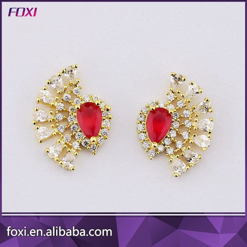 China New 2017 Latest Gold Earring Designs for Women - China ...
