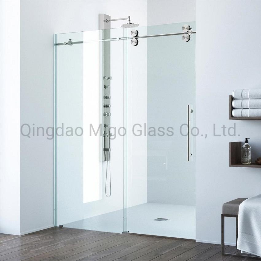 China Frameless Sliding Shower Door Glass Panels For Shower Room