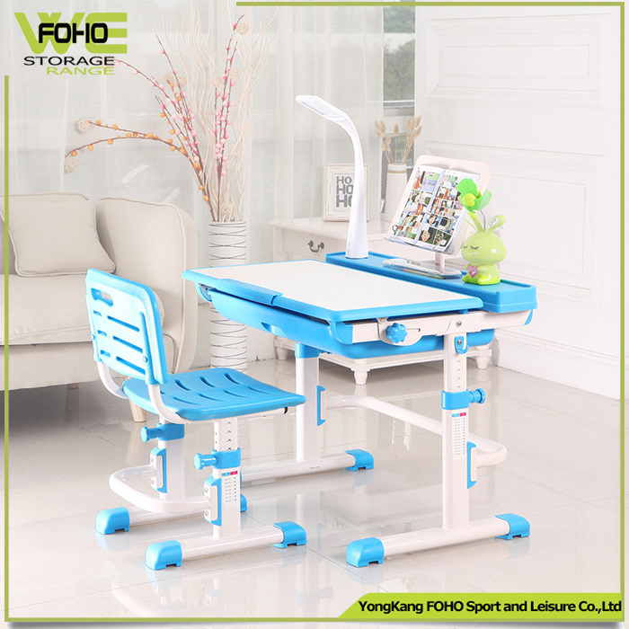 China Drawing Adjule Kids Study Table With Attached Chair