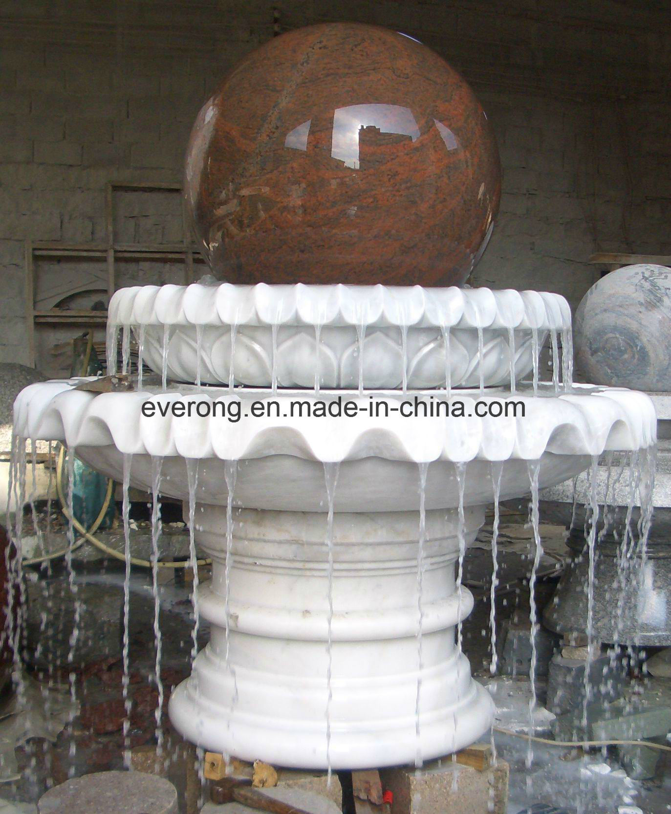 China Large Outdoor Granite Floating Sphere Ball Water Fountain For Garden Yard Plaza Stone