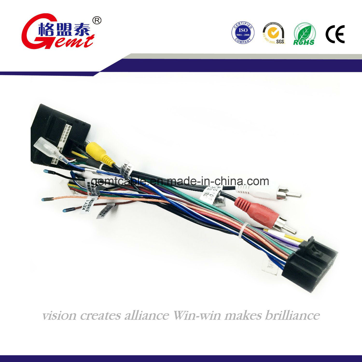 Custom Made Automotive Wiring Harness Solutions China High Quality Vw Audi Bmw Stereo Radio Wire