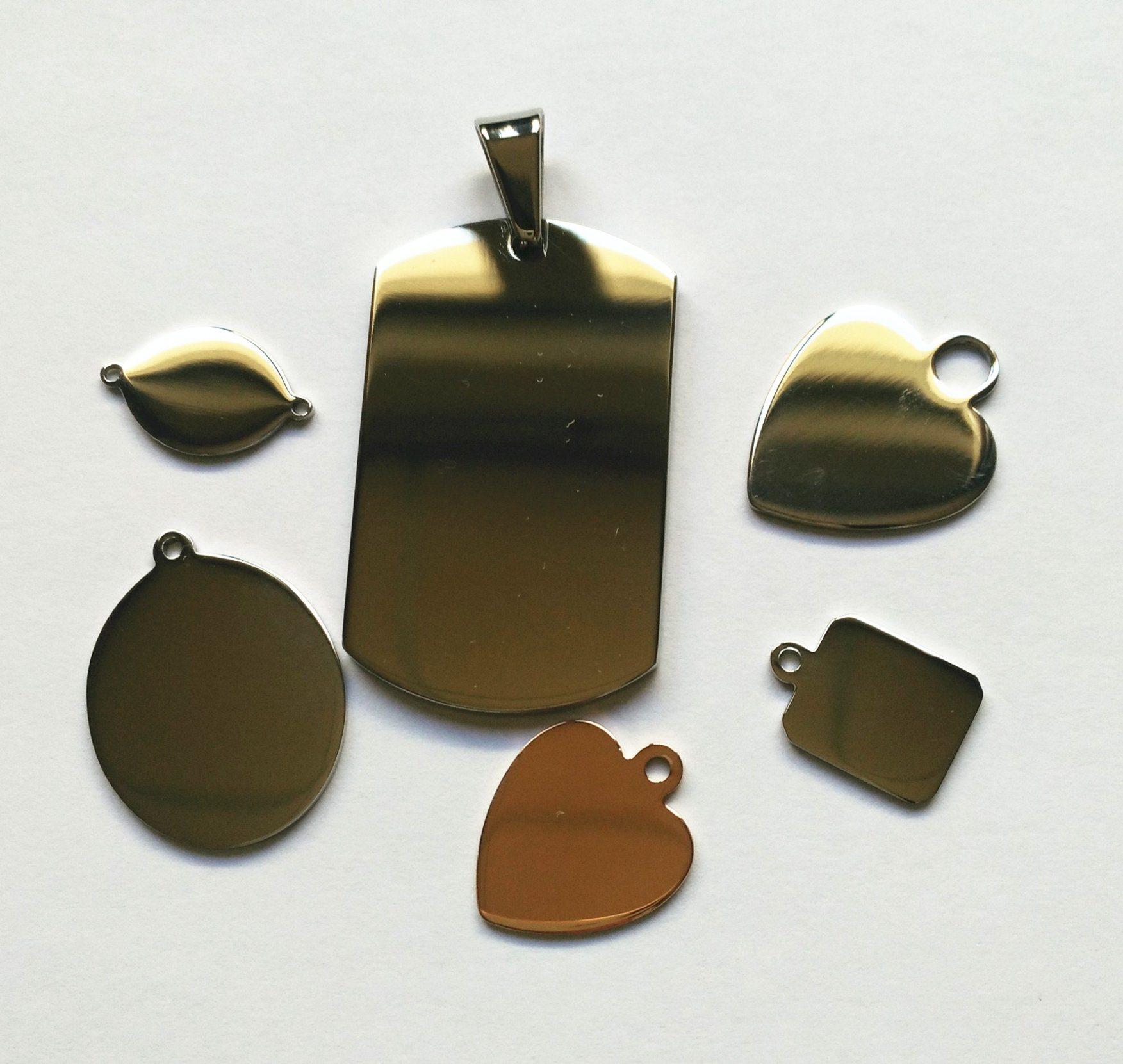 4023820dd353 China Any Shape Any Size Blank Dog Tag for Engraving - China Pendant ...