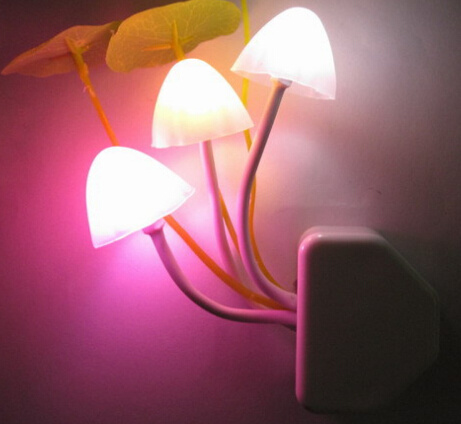 Hot Item 0 5 W Light Control Optical Sensor Mushroom Led Lamp Colorful Color Small Night Light Led Lamps 220v New Unique Electronic Gifts