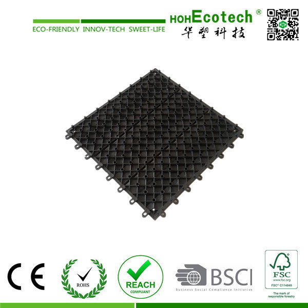 Nice Pattern Wood Plastic Composite Interlocking Tile/ WPC DIY Tile pictures & photos
