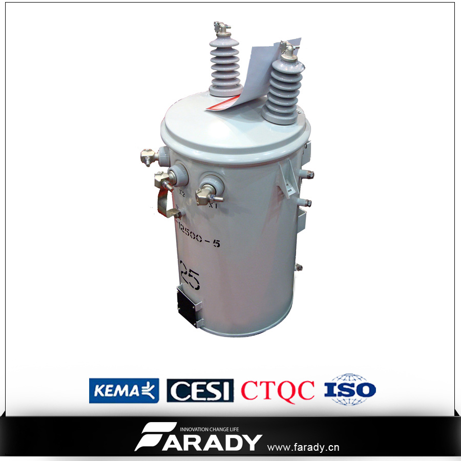 13.8kv 10kVA Single Phase Step Down Oil Transformer Conventional Type pictures & photos