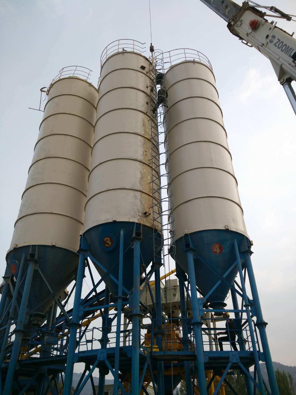 China 50ton Split Cement Silo For Hzs25 Concrete Batching Plant